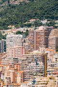 Monaco, Monte Carlo architecture background. Many houses, buildi Stock Photos