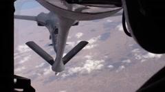 SOUTHWEST ASIA, DECEMBER 2015, B-1 Lancer Aircraft Fligh Behind Stratotanker - stock footage