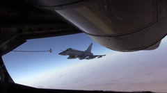 SOUTHWEST ASIA, DECEMBER 2015, RAF GR-4 Typhoon Eurofighter Fligh Beside Stock Footage