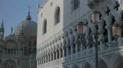 Doge's Palace Colonnade and Dome Basilica San Marco Venice - 29,97FPS NTSC - stock footage