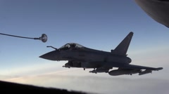 SOUTHWEST ASIA, DECEMBER 2015, RAF GR-4 Typhoon Eurofighter Aircraft Fligh - stock footage