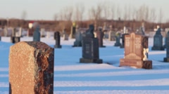 Grave stone with rack focus Stock Footage