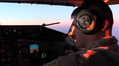 SOUTHWEST ASIA, DECEMBER 2015, Boing KC-135 Stratotanker Cockpit Overview Co - stock footage