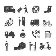 Delivery Icon Set - stock illustration