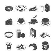 Breakfast Icon Set Stock Illustration