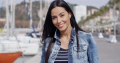 Gorgeous vivacious young woman Stock Footage