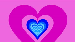 Color Hearts tunel  4K 02 Stock Footage