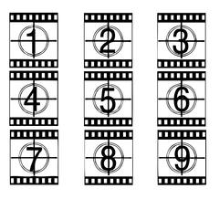 film strip illustration - stock illustration