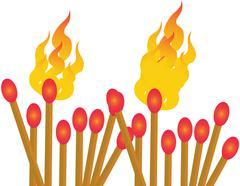 Match Sticks - Illustration - stock illustration