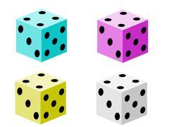 Game dice set Stock Illustration