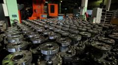 Oil Wellhead tree equipment production Stock Footage