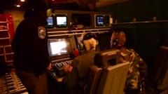 OREGON WAHINGTON USA, JANUAR 2016, US Air Force Board Crew Looks At Displays - stock footage
