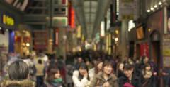 Namba shopping crowds Japan Stock Footage