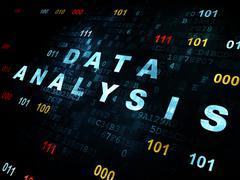 Data concept: Data Analysis on Digital background - stock illustration