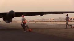 SOUTHWEST ASIA, DECEMBER 2015, US Air Force U-2 Dragon Lady Aircraft Stand At Stock Footage