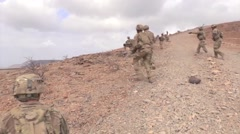 DJIBOUTI, DECEMBER 2015, East African Responce Force Run Secure Area Stock Footage