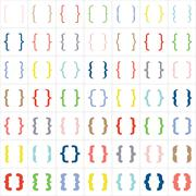 Set of braces or curly brackets icon. Vector - stock illustration