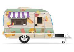 Fast food trailer vector illustration Stock Illustration