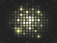 Abstract vector golden mosaic pixel background. - stock illustration