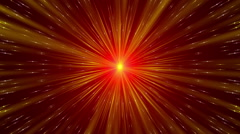 Red abstract background, gold rays and particles, loop Stock Footage