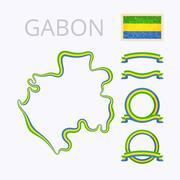 Colors of Gabon - stock illustration