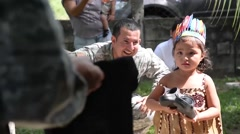 TRUJILLO HONDURAS, JANUAR 2016, US Soldiers Supply Shoes Stock Footage