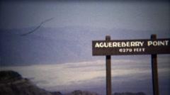1972: Aguereberry point high elevation destination high above sea level. Stock Footage