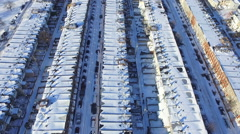 Aerial - Baltimore City Snow Covered Streets Stock Footage