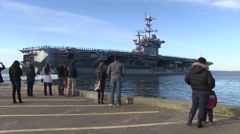 FORT MEADE USA, JANUAR 2016, US Carrier Drive Out Of Harbour Stock Footage
