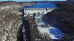 Wide shot Croton Dam Stock Footage