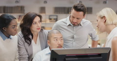 African american software engineer leading  Creative business team meeting in Stock Footage