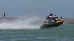 jetski racing in slow motion - stock footage