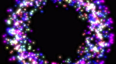 4k Color circle stars hole particles fireworks,magic energy,flying time tunnel. Stock Footage