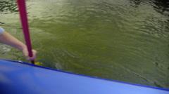 Two oars rowing Stock Footage