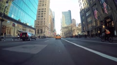 Point of view driving shot through Manhattan - stock footage