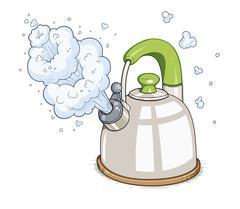 Kettle boil vector vector illustration - stock illustration