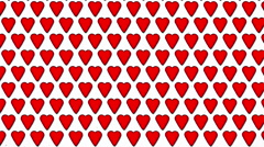 Red Hearts Love Valentine Animated Shape Background Stock Footage