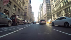Point of view driving shot through Manhattan Stock Footage