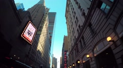 Looking up at the buildings surrounding Times Square, Manhattan  Stock Footage