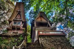 Toraja Traditional funeral tomb Stock Photos