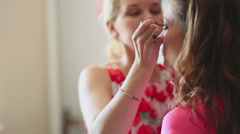 Make-up for photo session - stock footage