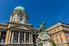 Statue of Prince Eugene of Savoy in Budapest Hungary Stock Photos