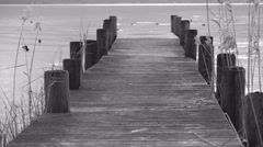 Landing stage on Chiemsee OLD MOVIE Stock Footage