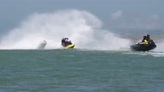 Jetski action in slow motion Stock Footage