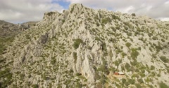 4K Aerial, Flight close to mountains and along mountain ranges, Andalusia, Spain - stock footage