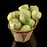 Fresh brussels sprouts - stock photo