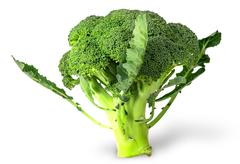 Large inflorescences of fresh broccoli with leaves Stock Photos