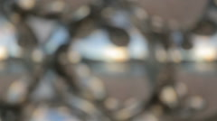 Cityscape reflection in decorative glass spheres, creative look at modern city Stock Footage