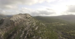 4K Aerial, Flight close to mountains and along mountain ranges, Andalusia, Spain Stock Footage