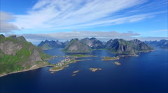 Beautiful Lofoten islands in Norway Stock Footage
